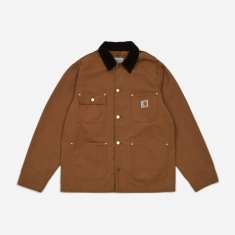 Carhartt WIP OG Chore Coat - Hamilton Brown/Black Rinsed
