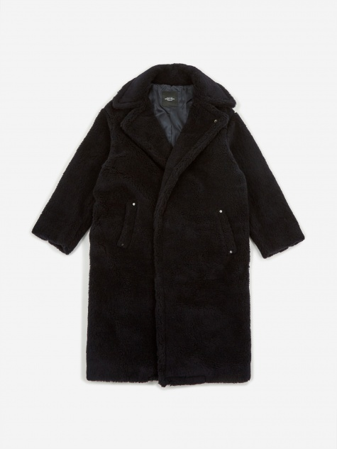 Oversized Coat (US1668) - Navy