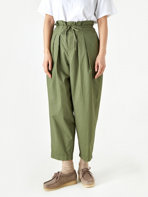 Typewriter Cotton Trouser - Khaki
