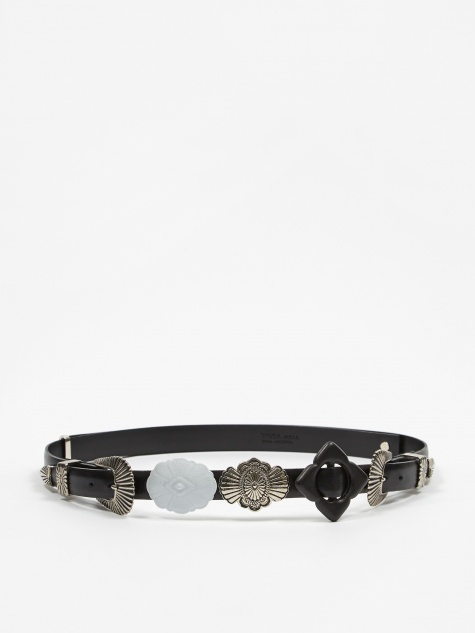 PULLA Motif Belt - Black