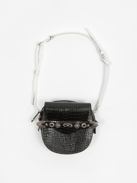 PULLA Metal Motif Bag - Black Mix