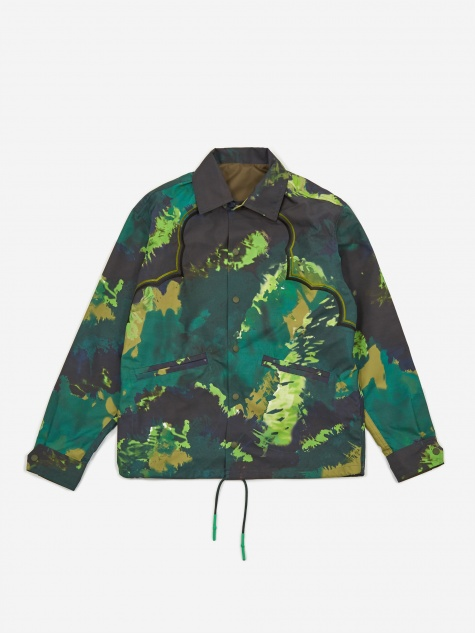 Polyester Tie Dye Jacket - Green