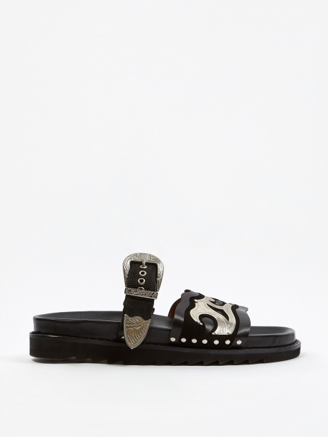 Buckle Sandal - Black
