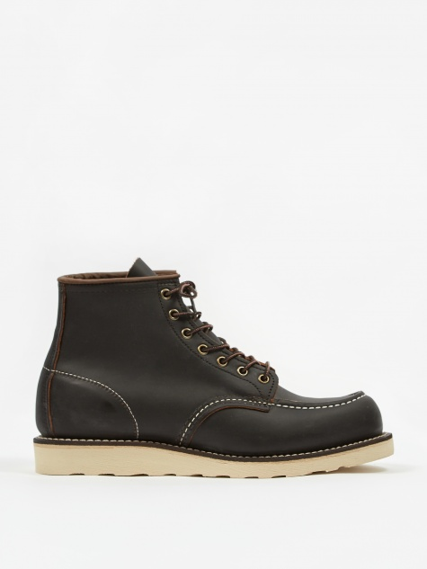 Red Wing 6 inch Classic Moc Toe Boot - Black Prairie