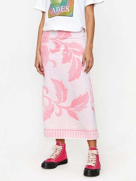 Towelling Skirt - Pink