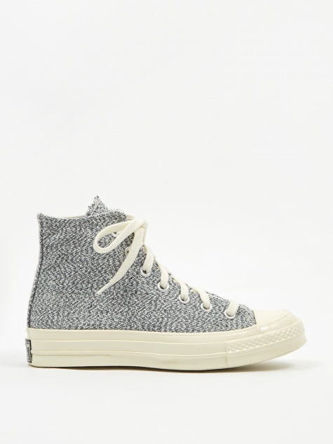 Chuck Taylor 70 Recycled Canvas Hi - Black/White/Egret