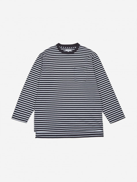 Thermal Crewneck T-Shirt - Navy Stripe