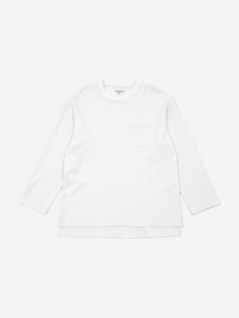 Longsleeve Thermal Crewneck T-Shirt - White