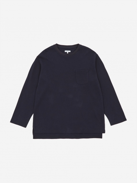 Longsleeve Thermal Crewneck T-Shirt - Navy