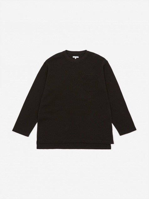 Longsleeve Thermal Crewneck T-Shirt - Black