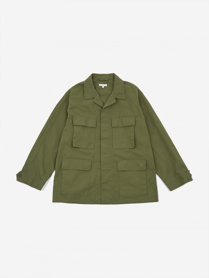 Engineered Garments BDU Jacket - Olive Cotton Ripstop (Image 1)