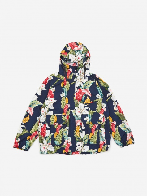Atlantic Parka - Navy Hawaiian Floral