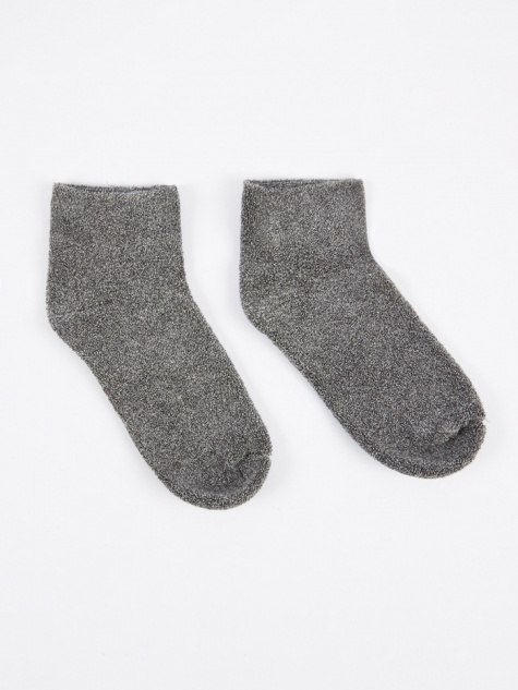 Buckle Ankle Socks - Grey Melange