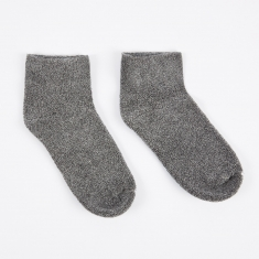 Baserange Buckle Ankle Socks - Grey Melange