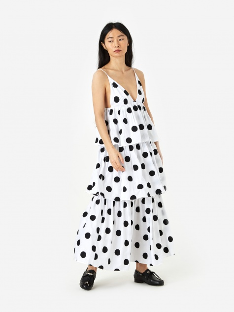 Bari Dress - Black/White
