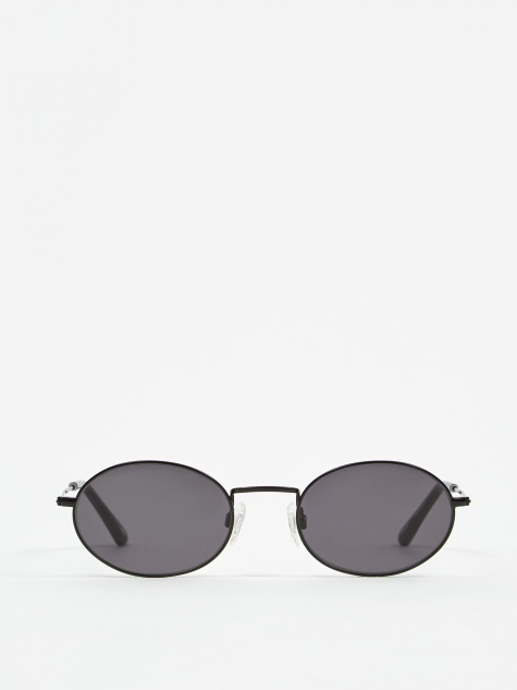 Aaliyah Sunglasses - Black/Transparent Grey