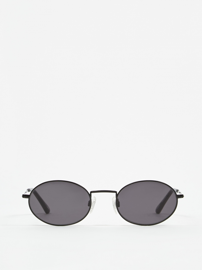 Sun Buddies Aaliyah Sunglasses - Black/Transparent Grey (Image 1)