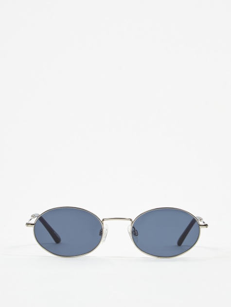 Aaliyah Sunglasses - Silver/Dark Blue