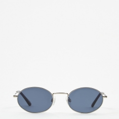 Sun Buddies Aaliyah Sunglasses - Silver/Dark Blue