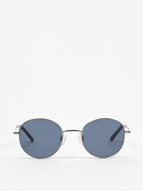 Sun Buddies Ozzy Sunglasses - Silver/Dark Blue