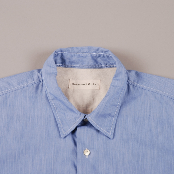 Universal Works Weekend Shirt - Blue (Image 1)