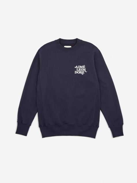 70s Graphic Crewneck Sweatshirt - Maritime Blue