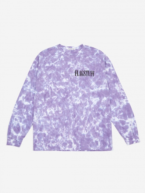 Fade Away Longsleeve T-Shirt - Purple Tie Dye