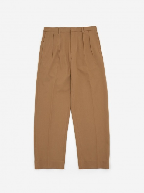 Pleated Trouser - Khaki