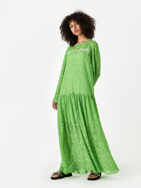 Lace Dress - Green
