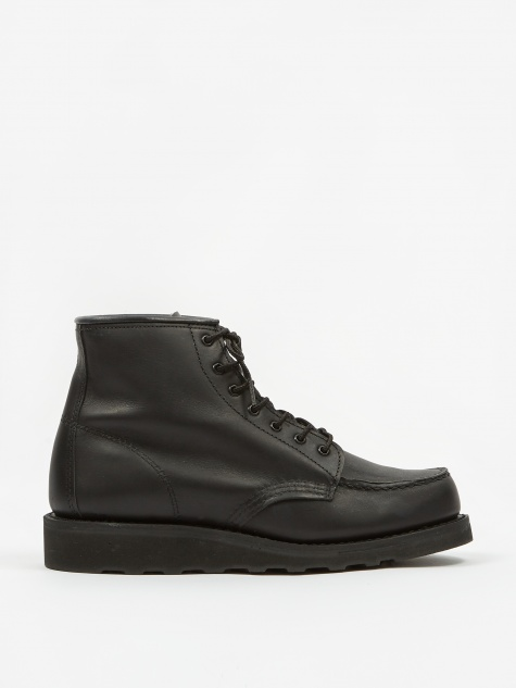 Red Wing 6 inch Classic Moc Toe Boot - Black Boundary/Black