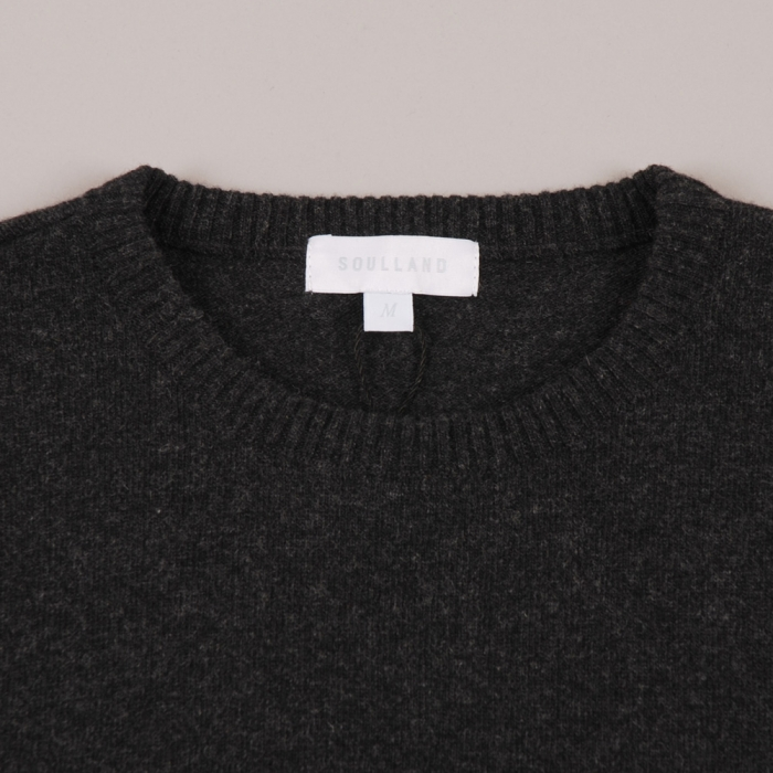 Soulland Monrad Knit - Black/Grey Melange (Image 1)