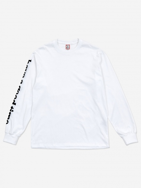 Arm Bubble Side Logo Longsleeve T-Shirt - White
