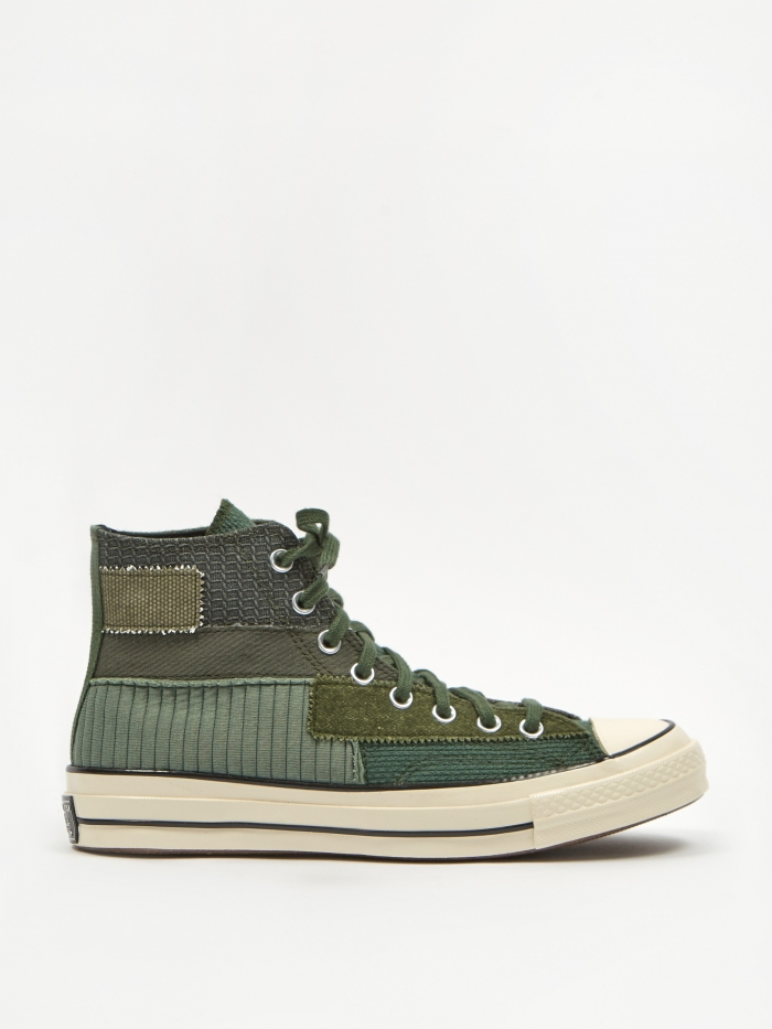 Converse Chuck Taylor 70 Pinnacle Patchwork Hi - Black Forest (Image 1)