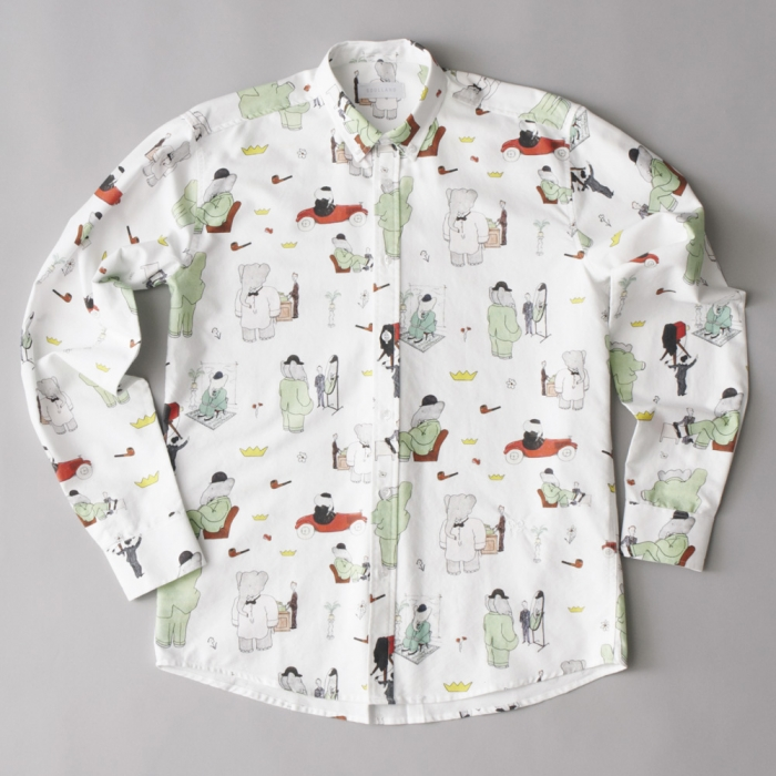 Soulland BaBar Paris Shirt L/S - White (Image 1)