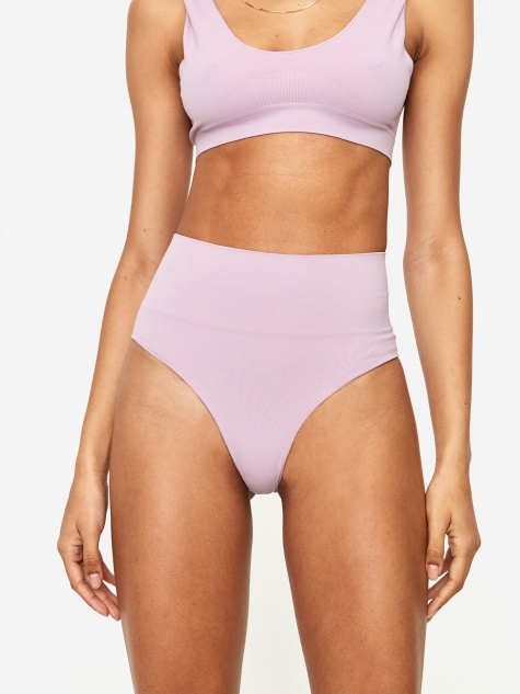 Les Girl Les Boy Semi Sheer Brief - Mauve