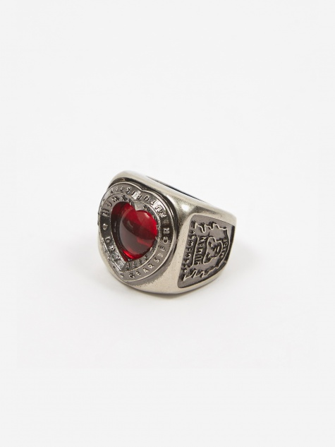 Heart College Ring - Silver