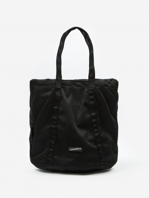 Packable Mesh Tote Bag - Black