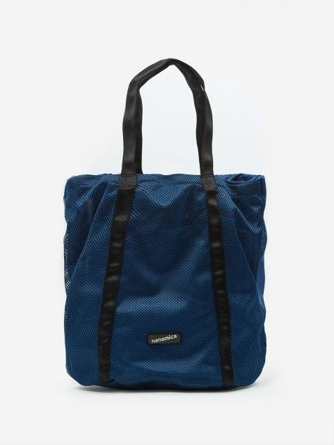 Packable Mesh Tote Bag - Navy