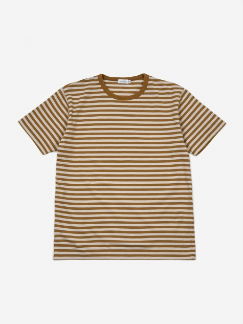Coolmax Striped T-Shirt - Mustard/Ivory