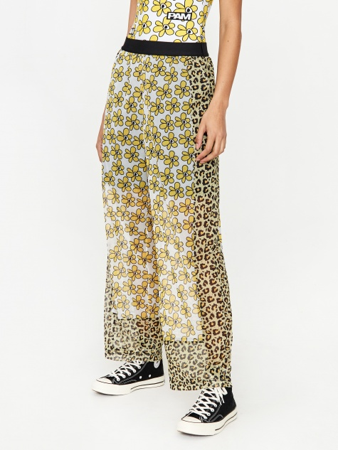 Boxed Kissing Frogs Mesh Trouser - Animal Dai