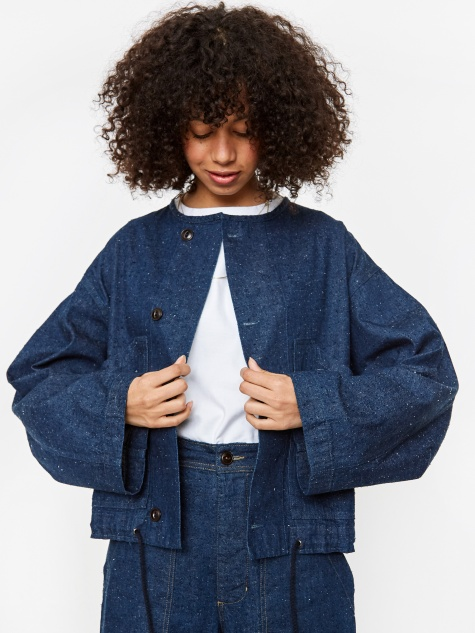 Girls Of Dust Nuclear Jacket Nepping Selvidge Denim  - Indigo