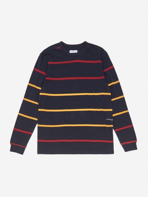 Striped Longsleeve T-Shirt - Navy/Red/Yellow