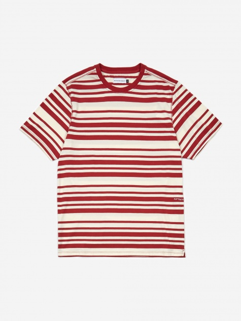 Striped Shortsleeve T-Shirt - Pepper Red/Off