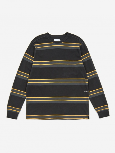 Striped Longsleeve T-Shirt - Anthracite/Yell