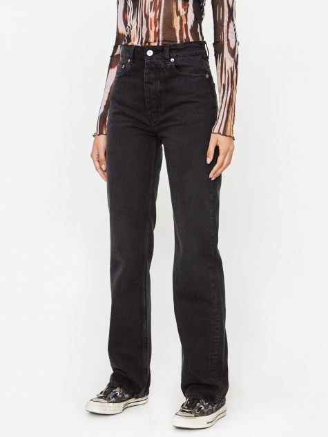 Spiral Cut Jean - Washed Black