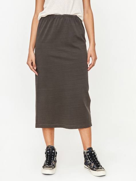 Tube Skirt - Washed Black Olive