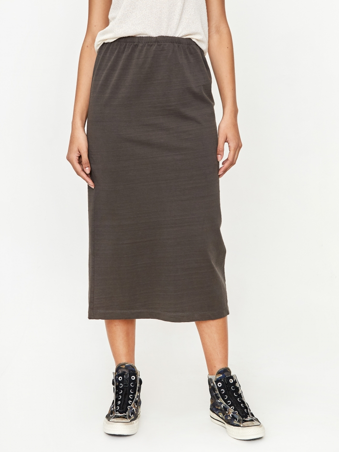 Our Legacy Tube Skirt - Washed Black Olive (Image 1)