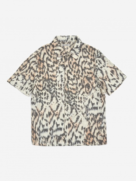 Box Shortsleeve Shirt - Tiger Print