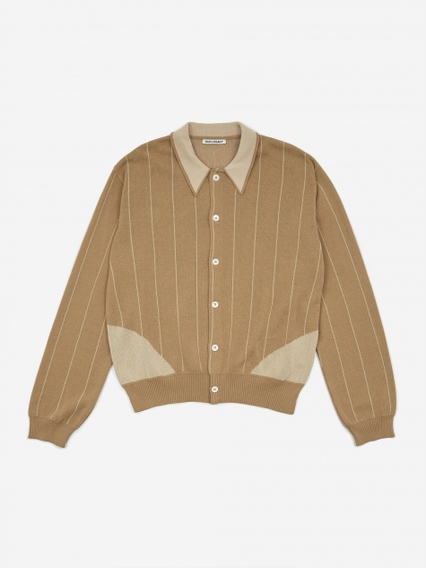 Evening Polo Shirt - Beige Stripe