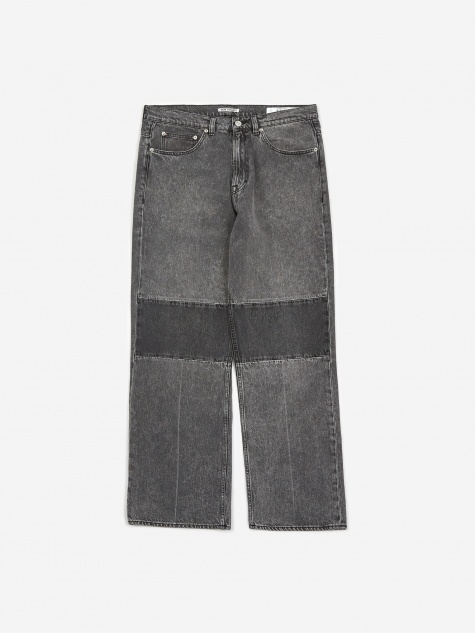 Extended Third Cut Jean - Black /Grey